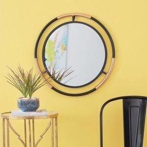 StyleWell Round Black & Gold Modern Accent Mirror